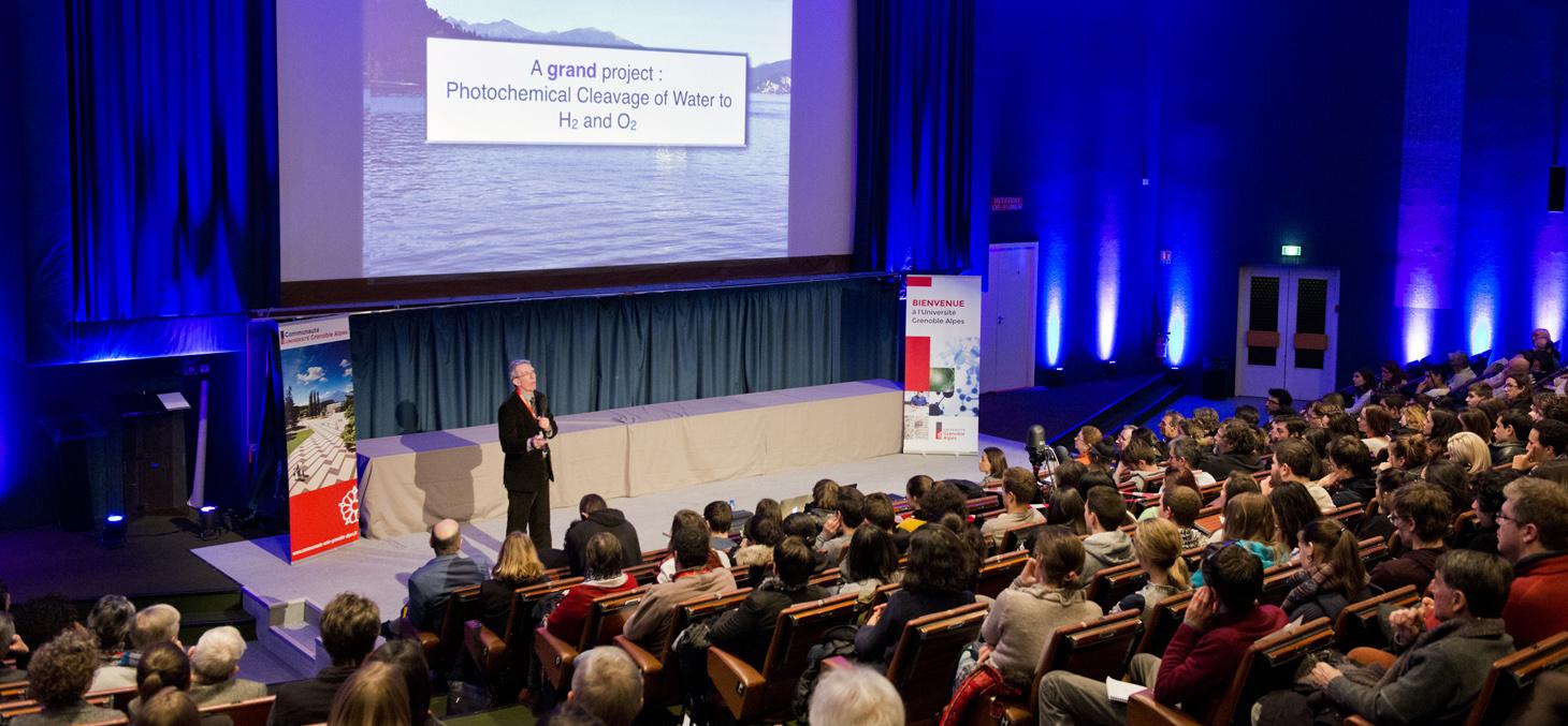 Conférence d'exception de Jean-Pierre Sauvage, prix Nobel de chimie 2016, sur le campus grenoblois