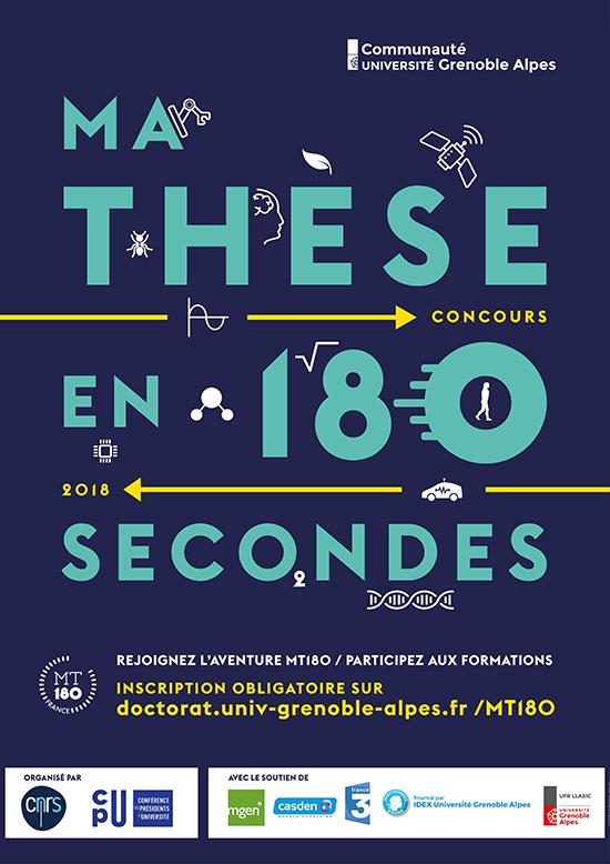 Affiche de l'édition 2018 du concours MT180
